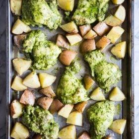 Pesto Chicken Sheet Pan Dinner