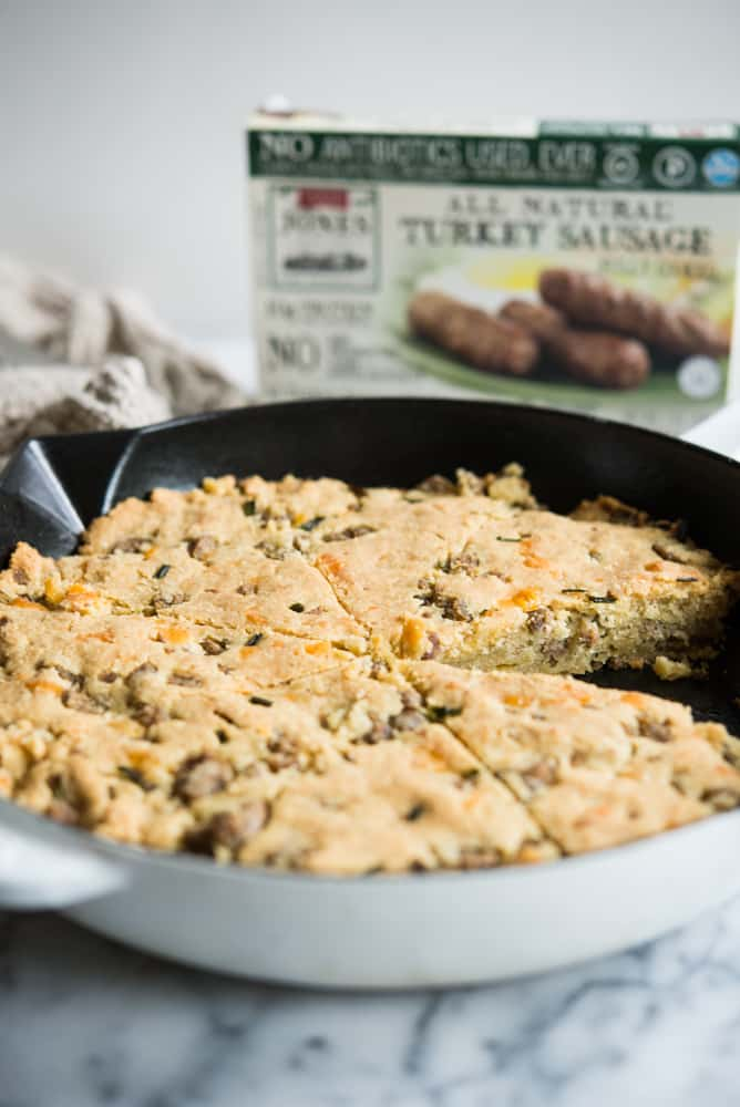 grain-free cheddar and sausage scones