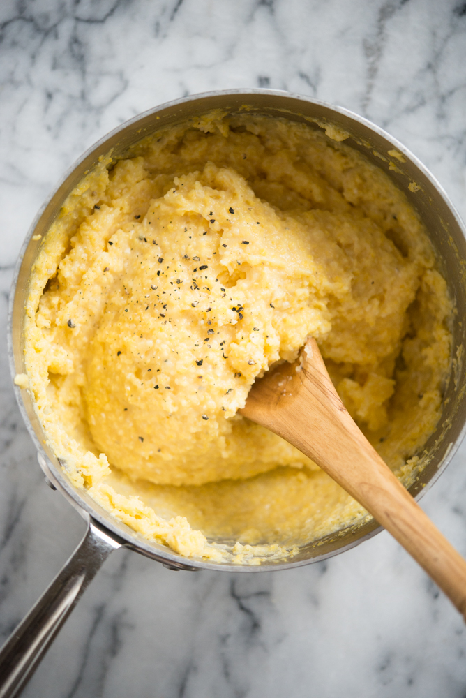 easy no-stir polenta