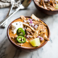 Instant Pot creamy chicken enchilada soup