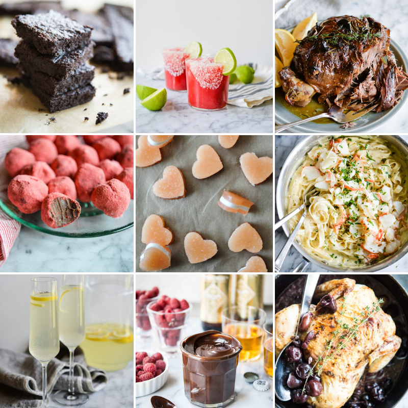 healthy Valentine's Day image grid
