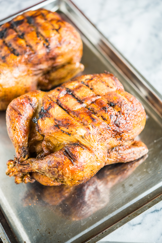 rotisserie chicken on a sheet pan