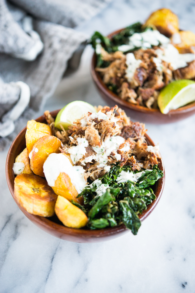 caribbean plantain bowls from cook once eat all week
