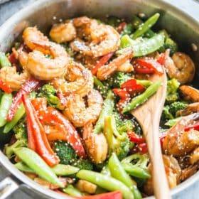 Teriyaki Shrimp and Vegetable Stir Fry