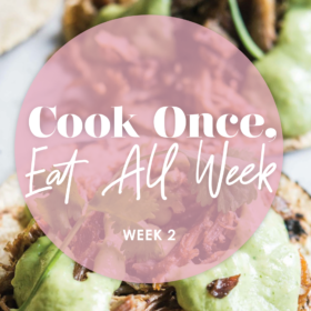 grain free meal prep plan with shopping list