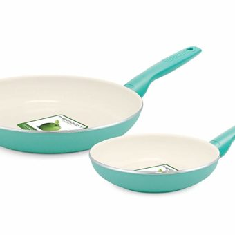 greenlife ceramic pans 2 piece