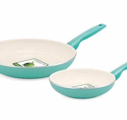 greenlife ceramic pans 2 piece