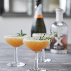 The Harvest Sparkle (Bourbon Champagne Cocktail)