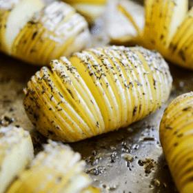 Rosemary Sea Salt Hasselback Potatoes