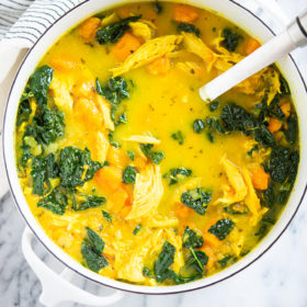 Chicken Soup with Ginger and Turmeric