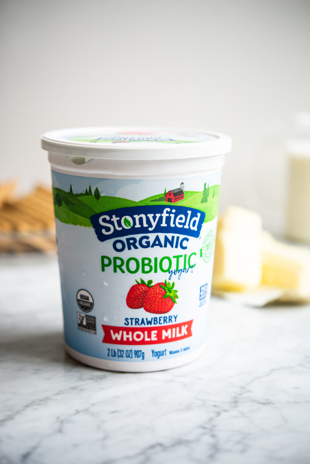 stonyfield organic strawberry whole milk yogurt