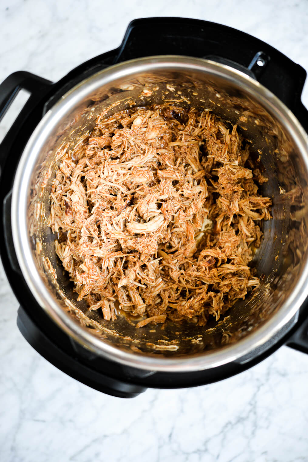instant pot bbq chicken shredded and finished in the instant pot