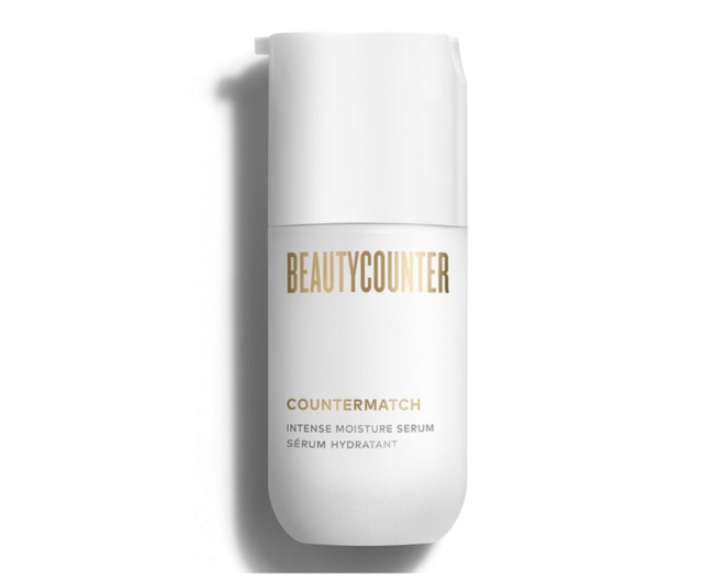 beautycounter countermatch intense moisture serum in a white bottle