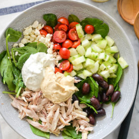 Greek Chicken Salad Lunch Bowls