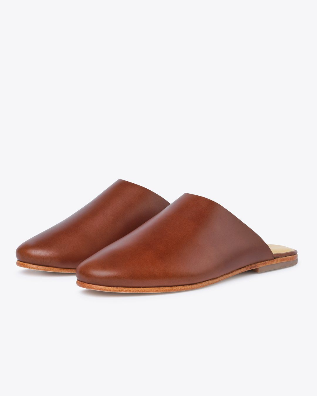 nisolo women's brown leather mules