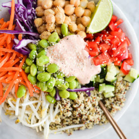 Thai Buddha Bowls with Red Curry Sauce
