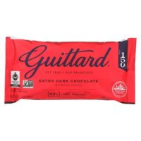 red bag of guittard dark chocolate chips