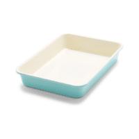 turquoise and white 9x13 baking pan