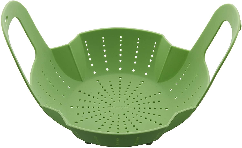 green silicone instant pot steamer basket