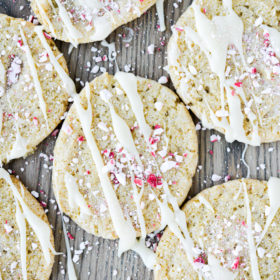 White Chocolate Peppermint Icebox Cookies