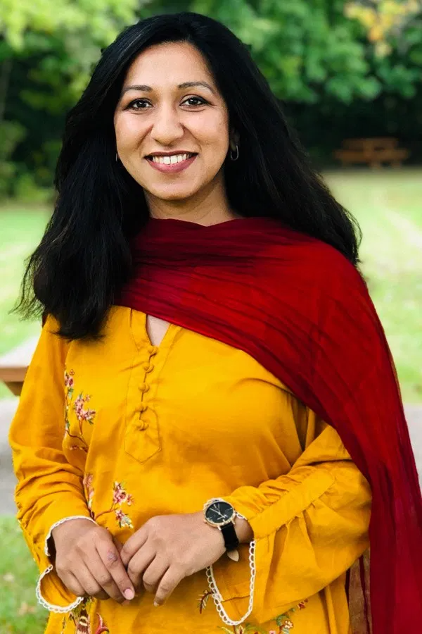 Fatima Ali of pots 'n curries standing outside smiling at the camera