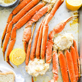 Easy Baked Crab Legs