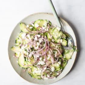 Vinegar Cucumber Greek Dill Salad