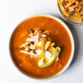 Instant Pot Creamy Chicken Tortilla Soup