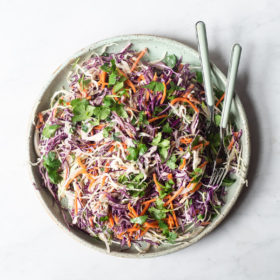 Mexican Coleslaw with Creamy Avocado Dressing