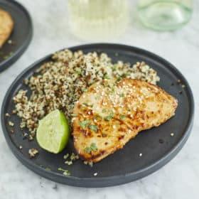 Chili-Lime Seared Ahi Tuna Recipe with Quinoa
