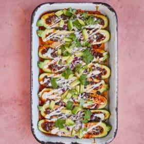 Zucchini Enchilada Boats